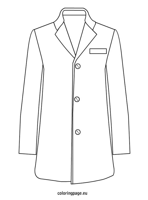 coat coloring pages - photo#21
