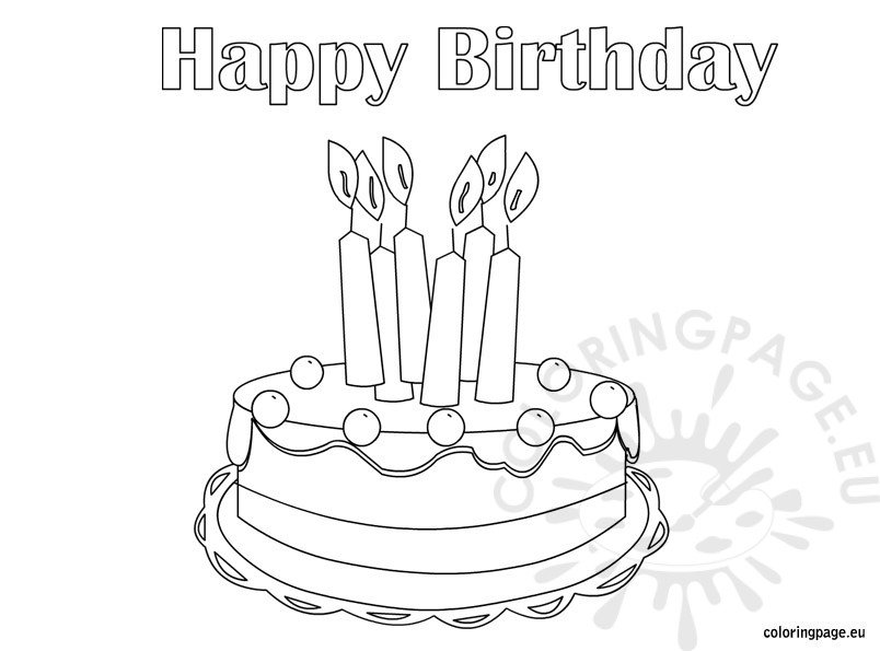 Happy Birthday Big Brother Coloring Pages