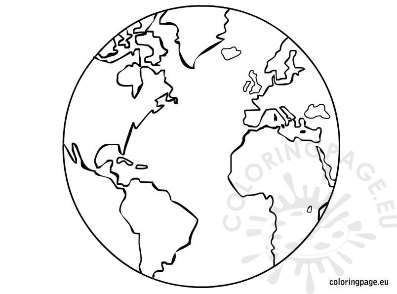 earth template printable  u2013 coloring page