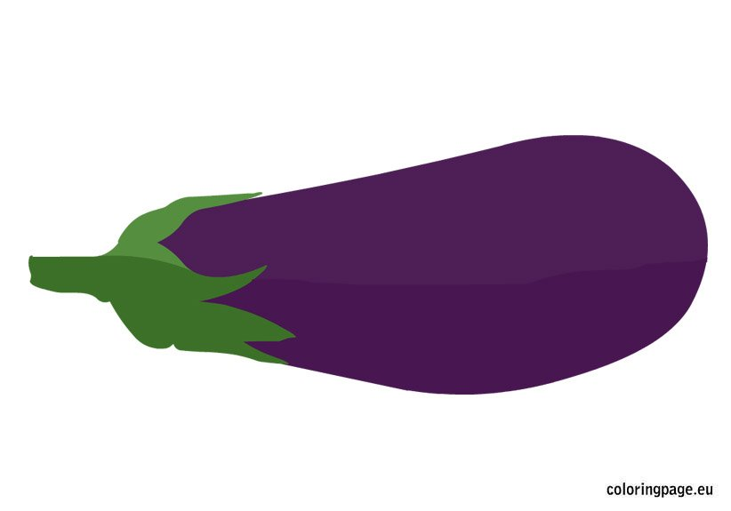 eggplant coloring page coloring page