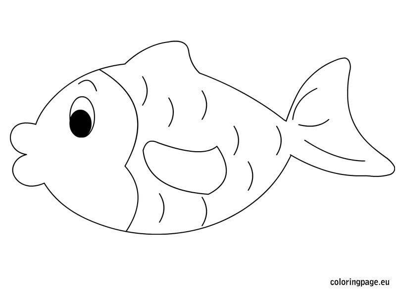 fish coloring page - Printable Fish Coloring Pages