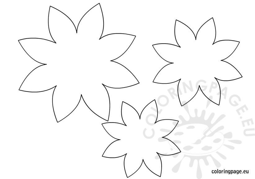 Flower Template | Coloring Page