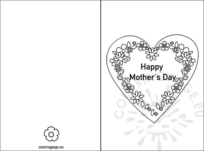 Mothers Day Card Template  KakTakTk