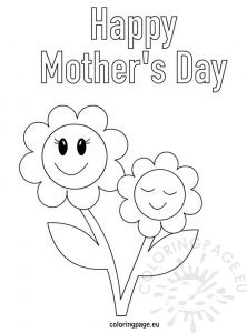 Mother's day greeting card coloring page