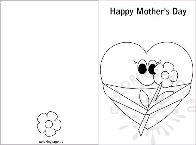 mother s day card coloring coloring page. Black Bedroom Furniture Sets. Home Design Ideas