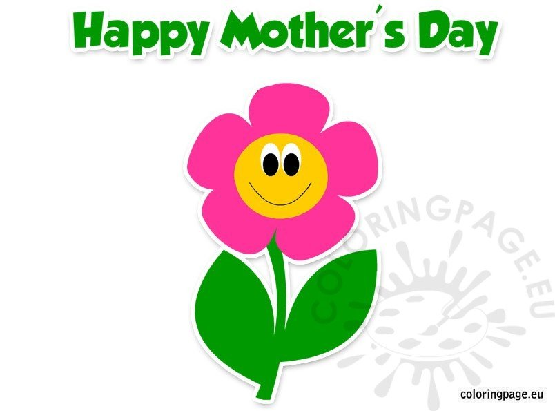 Happy Mother's Day clipart | Coloring Page