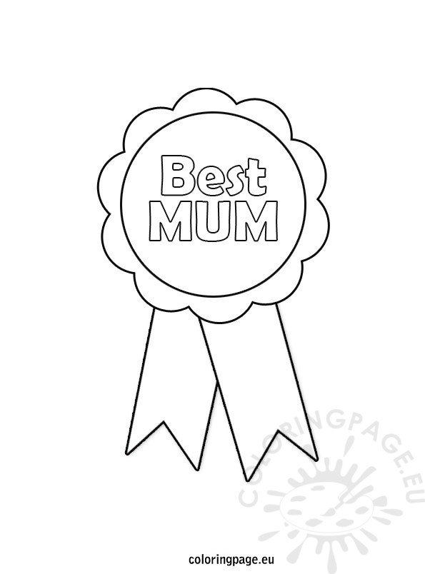 Mother S Day Rosette Coloring Page Coloring Page