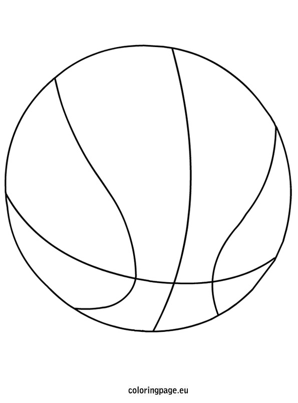 Basketball coloring picture