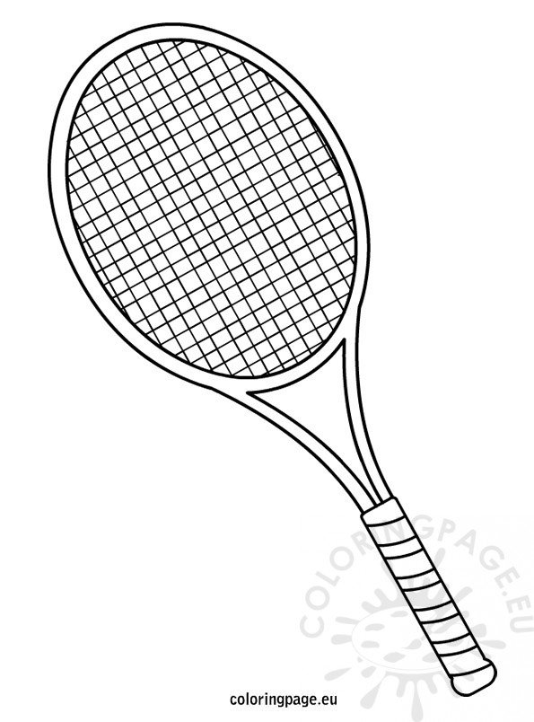 tennis-racquet-coloring-page