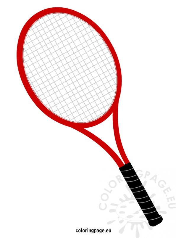 Tennis Racket Coloring Pages | Coloring Pages