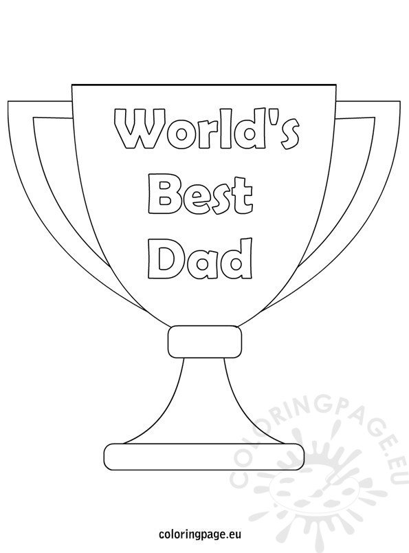 World's Best Dad coloring page - Coloring Page