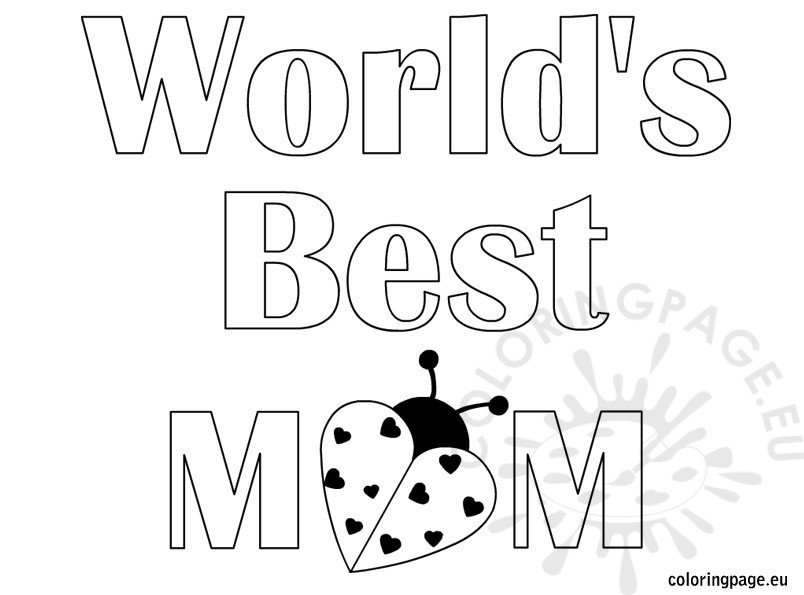World 39 s best mom coloring page for Mom coloring pages