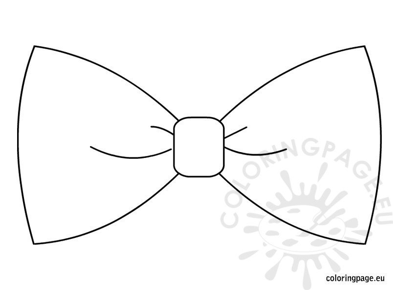 Bow Tie Template  Coloring Page