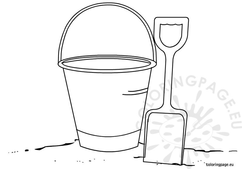 shovel and pail-coloring