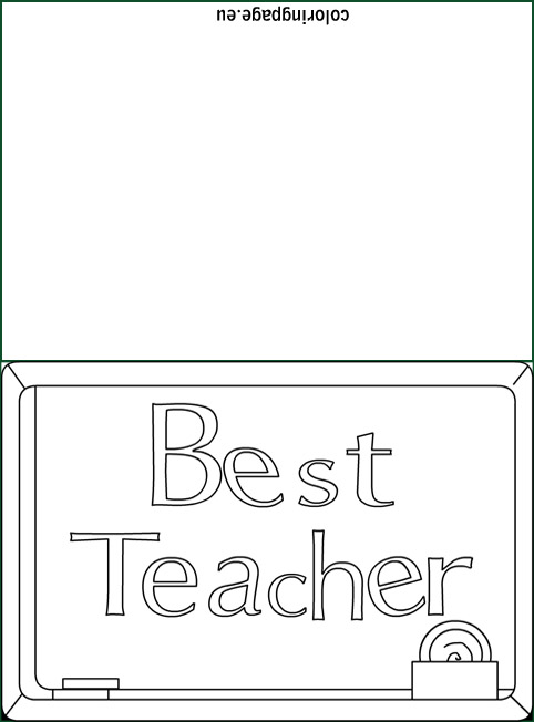 Best Teacher Card coloring Coloring