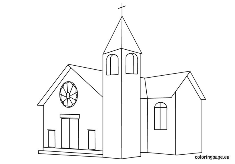 church-coloring-page