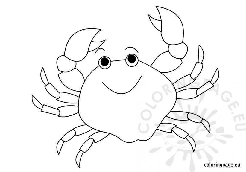 crab-coloring-page