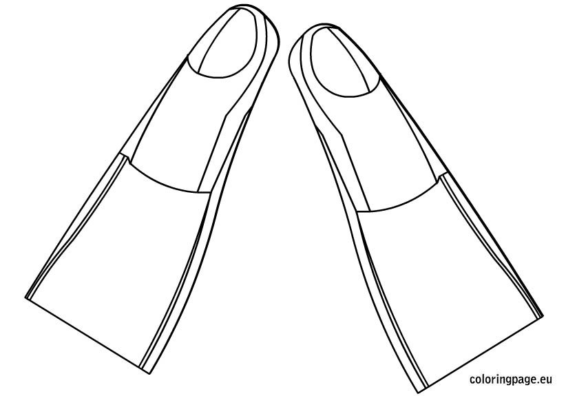 diving-fins-coloring-page