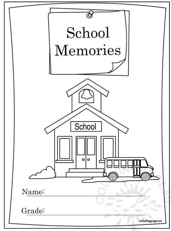 End Of The Year Coloring Pages For Kindergarten : End of school year memory book coloring