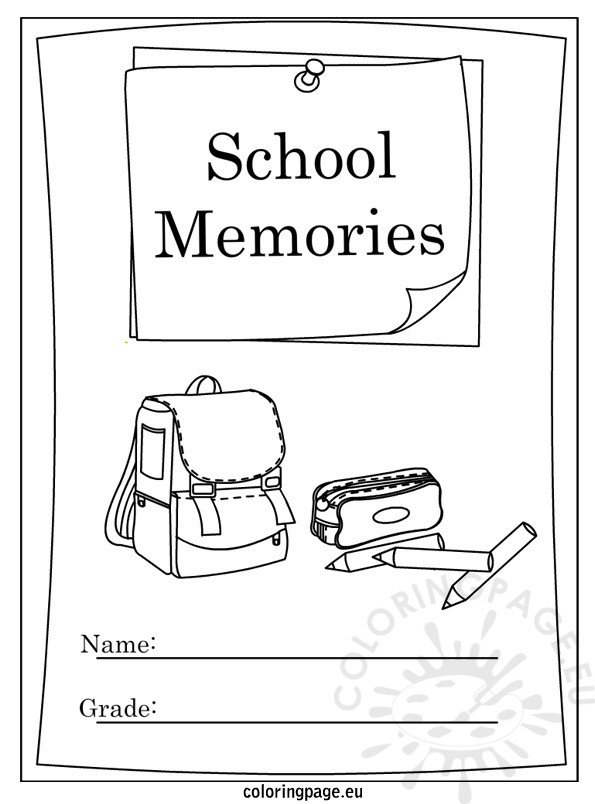 End Of The Year Coloring Pages For Kindergarten : End of school year memory book coloring page