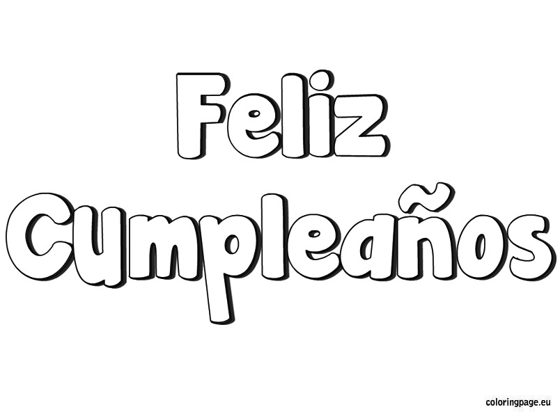 share - Feliz Cumpleanos Coloring Pages