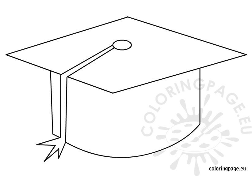 graduation-cap-coloring-page