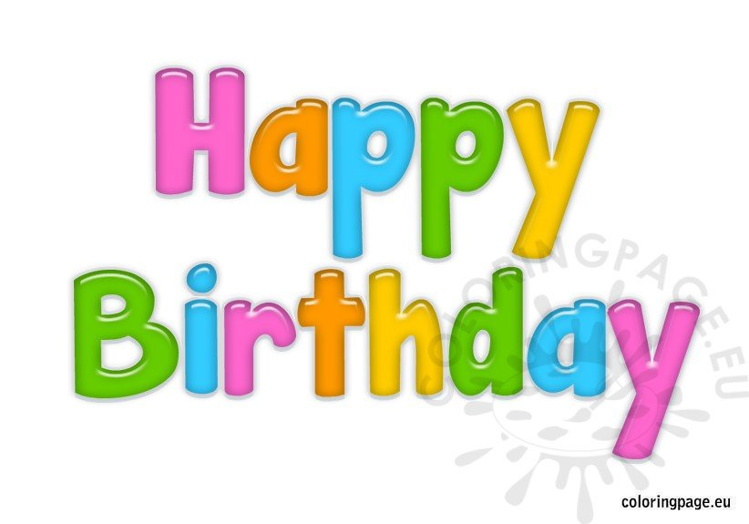 clipart for happy birthday - photo #8