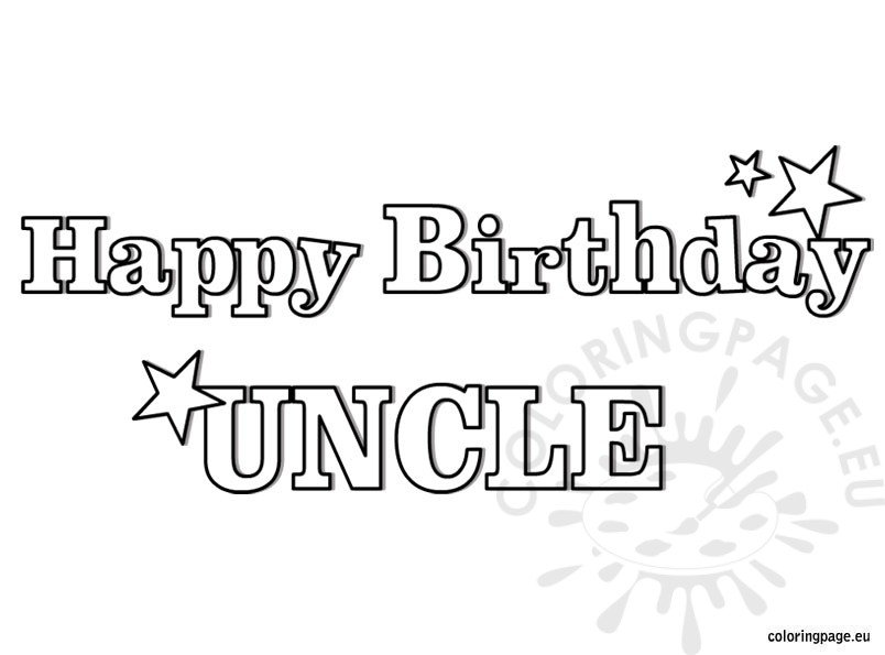 happy birthday uncle coloring page - Coloring Pages Happy Birthday