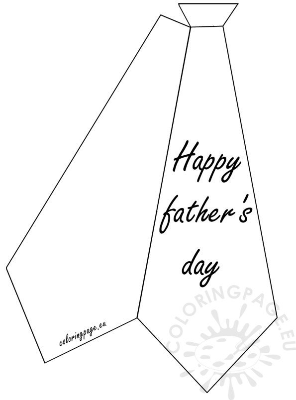 Greeting card: Happy Father's Day | Coloring Page
