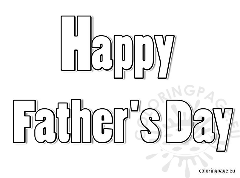Happy Father\'s Day coloring page