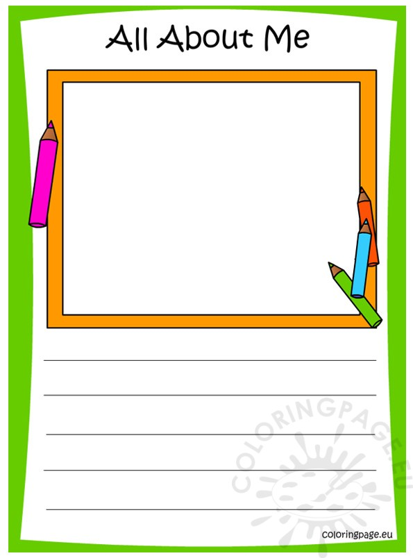 Memory Book - All About Me - Coloring Page