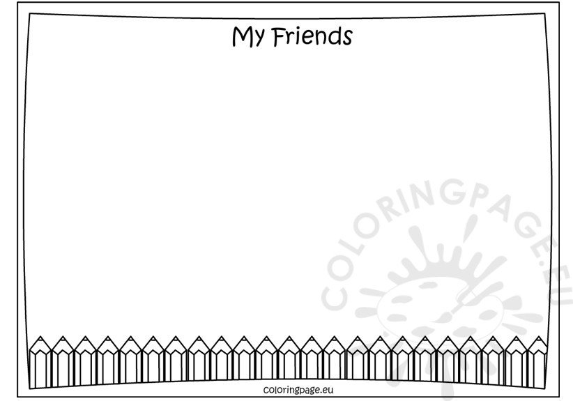 my friends coloring pages - photo#27
