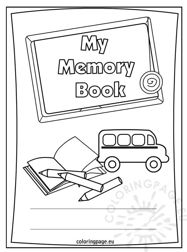 End of the school year My memory book Coloring Page