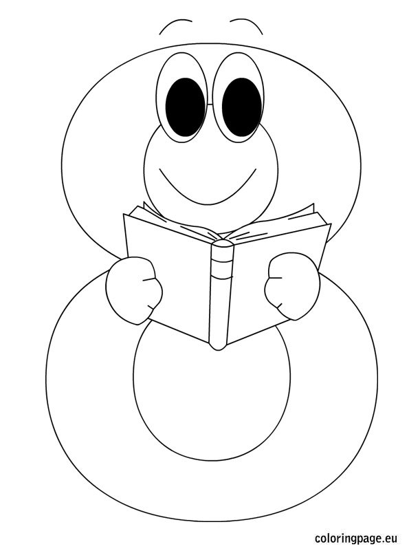 Number eight coloring page for Number 8 coloring page