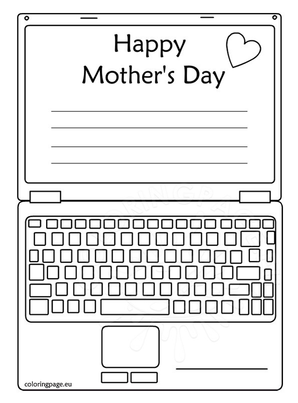 Free Printable Mother S Day Card Computer Coloring Page