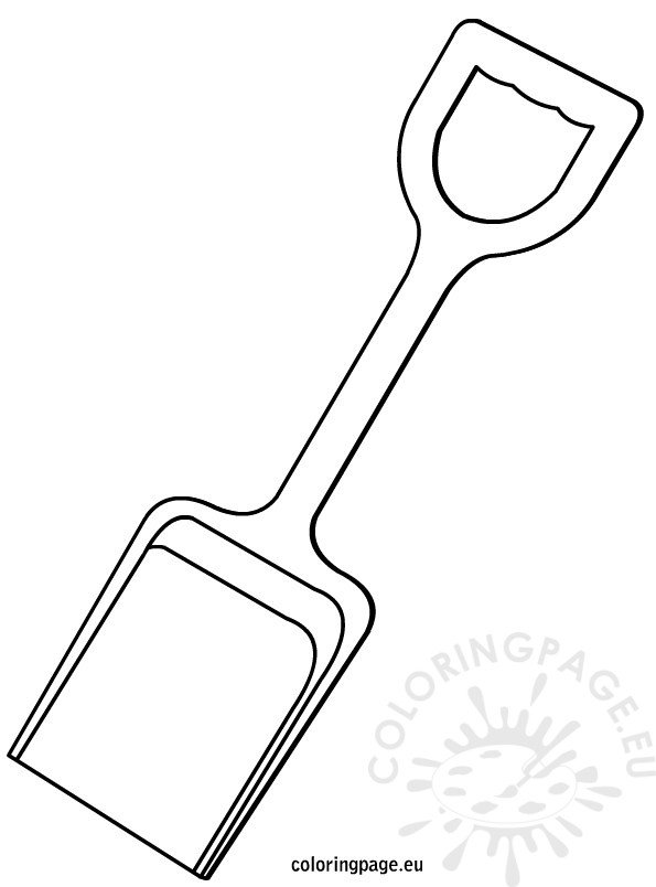 shovel coloring pages - photo#3