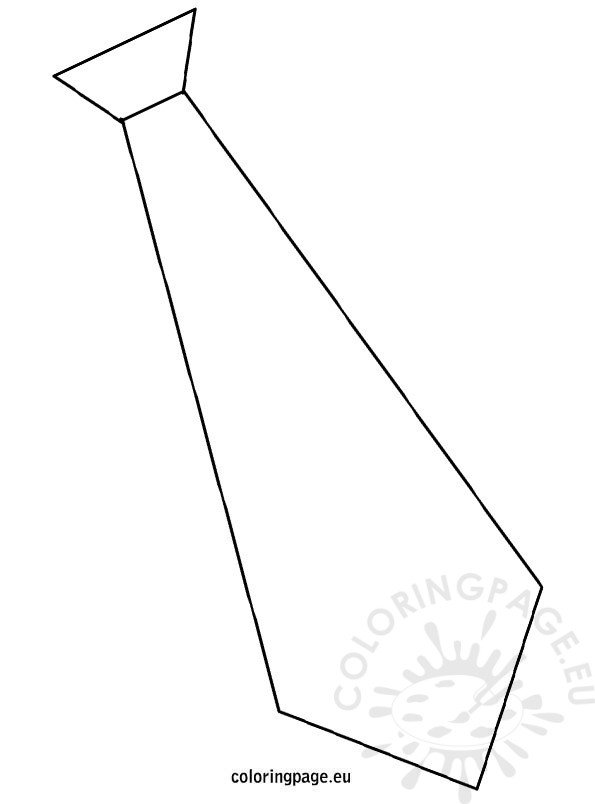 Template tie coloring page for Necktie coloring page