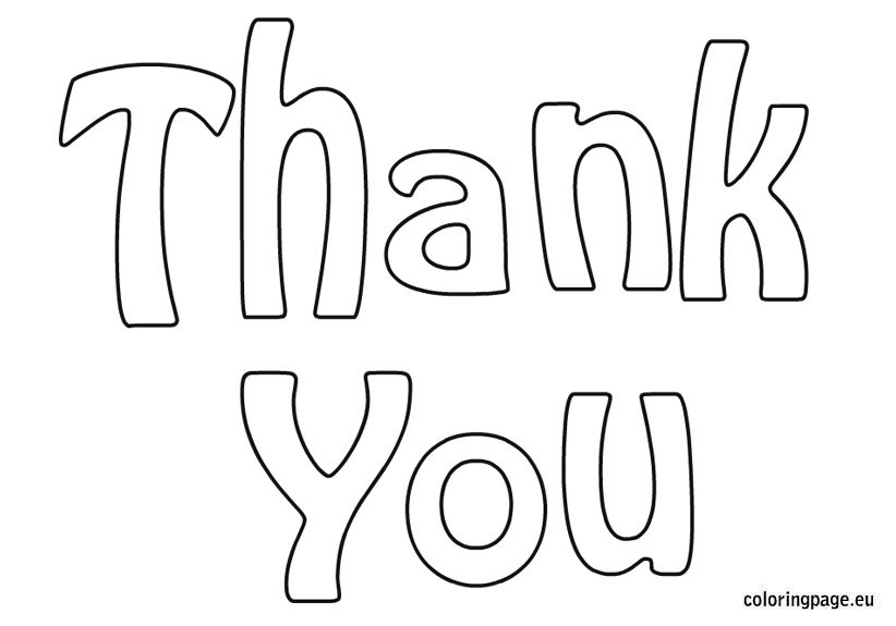 coloring pages thank you card - photo#24