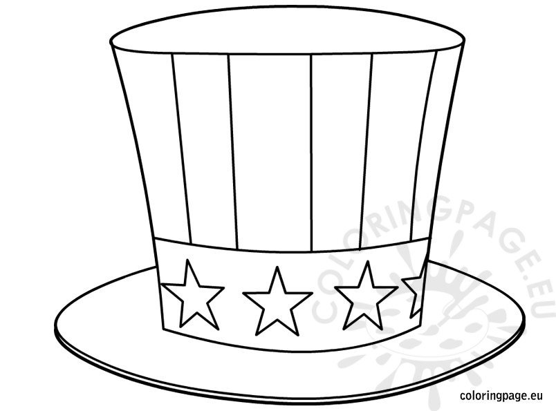Uncle Sam Hat Coloring Page Galleryhipcom The Hippest