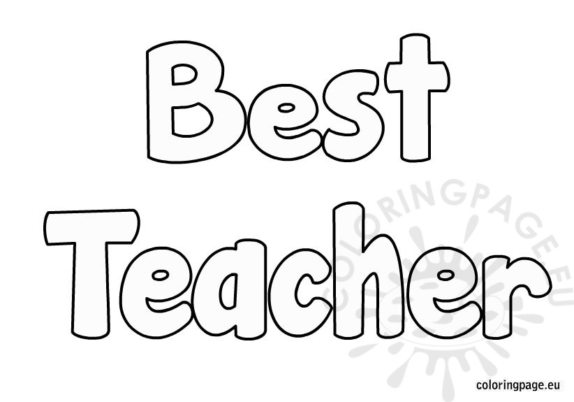 Best teacher coloring page for Coloring pages of teachers
