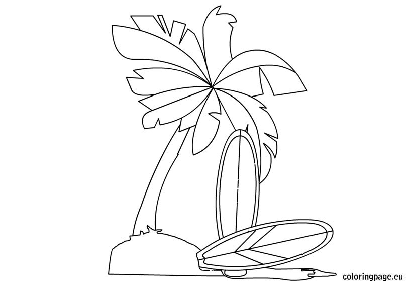 Surfing Coloring Pages Coloring Pages Surfboard Coloring Page