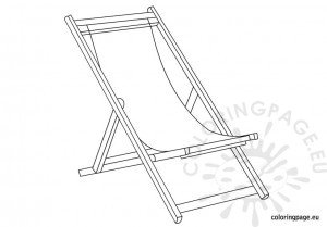 Deckchair coloring page