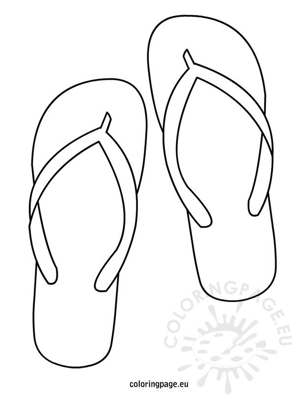 photo about Flip Flop Template Printable identified as Change Flop coloring web page Coloring Web page