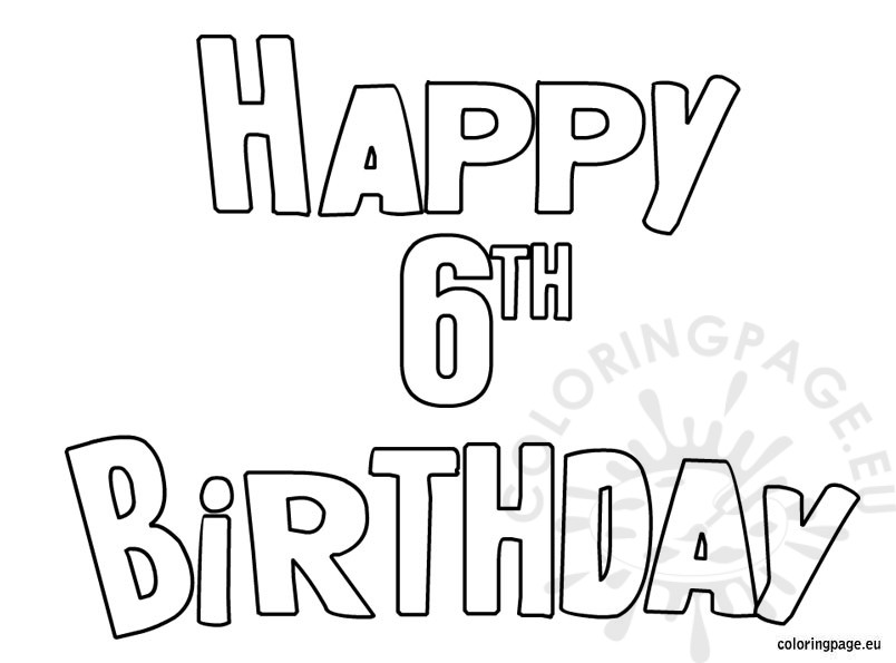 happy 4th birthday coloring pages - photo#18