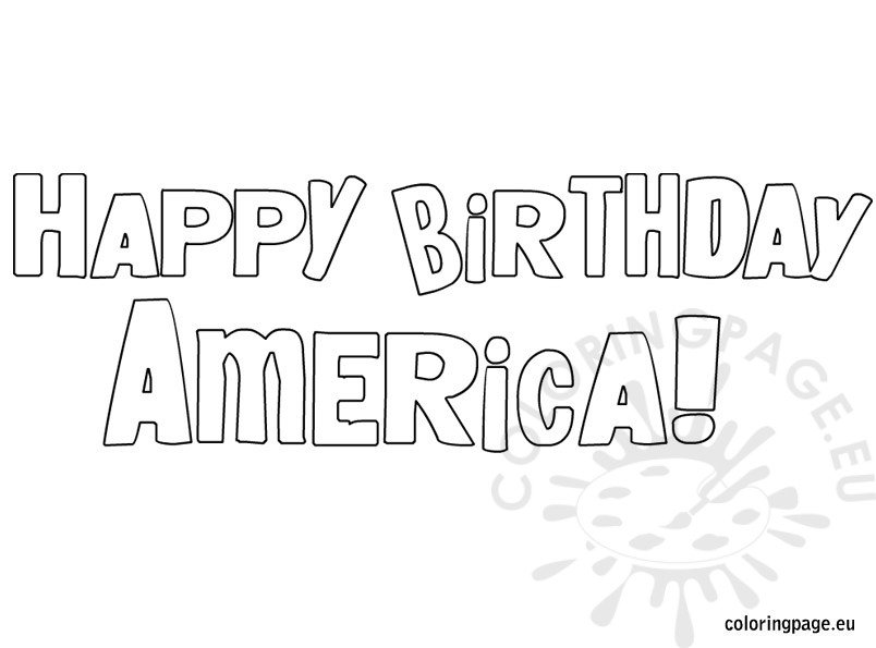 happy birthday america coloring pages - photo#2