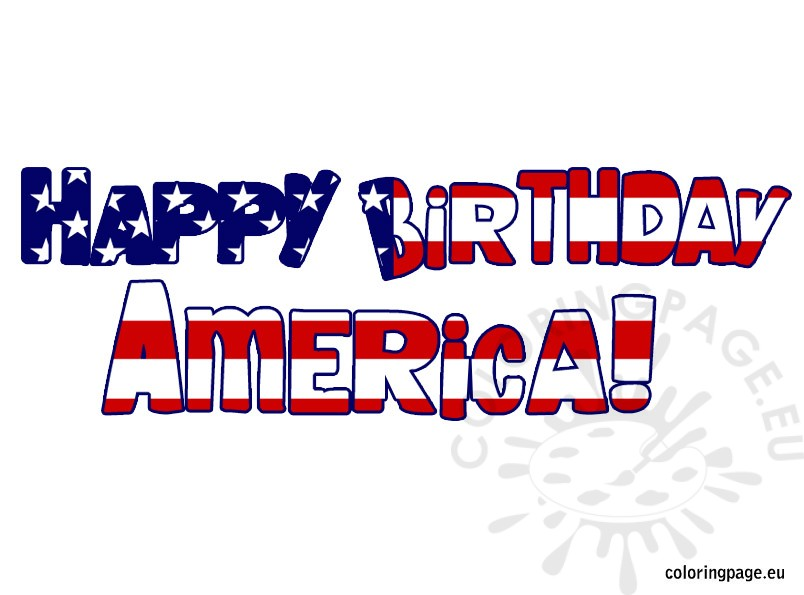 happy birthday america coloring pages - photo#9