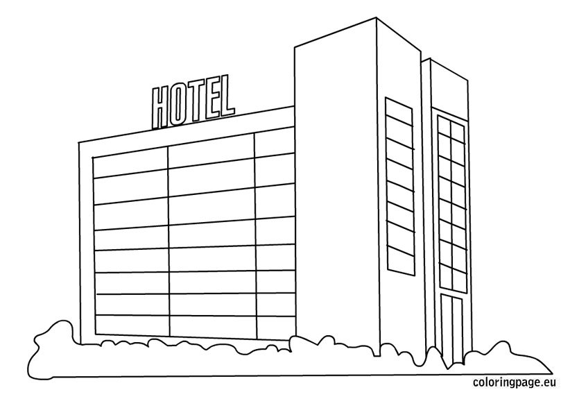 coloring pages of hotel - photo#1