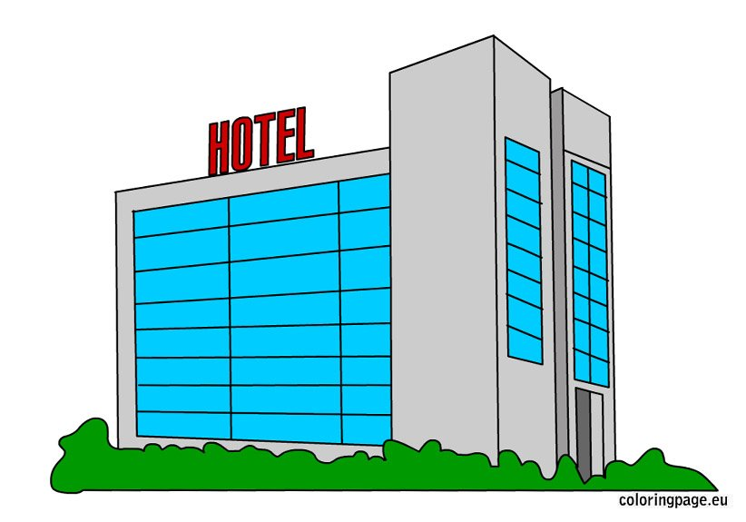 coloring pages hotel - photo#19