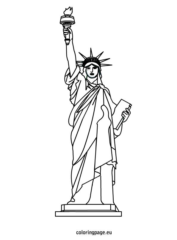 picture relating to Printable Statue of Liberty Template named Statue of Independence coloring sheet Coloring Web site