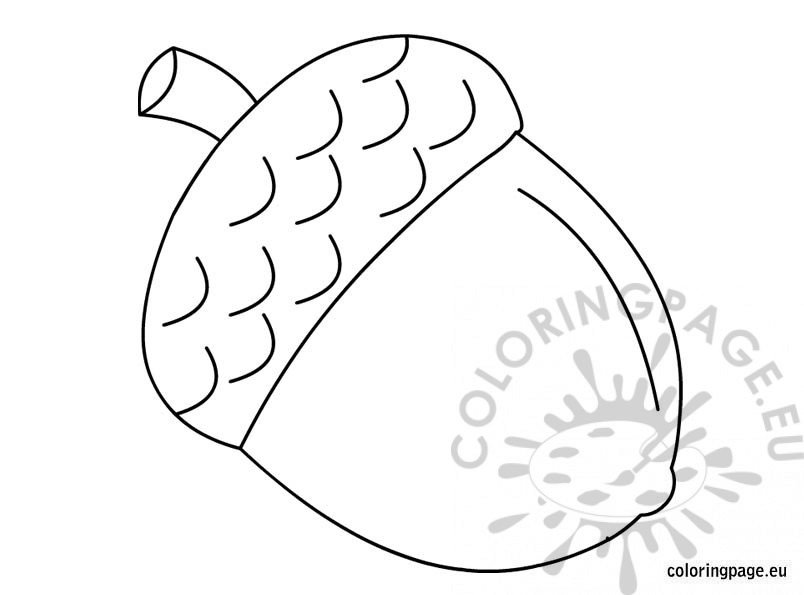 Acorn Leaf Coloring Pages Acorn Coloring Pages